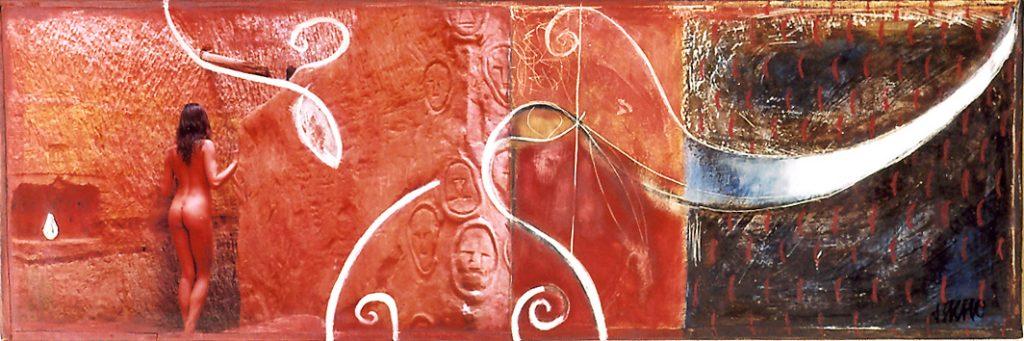 16 TM Toro Rouge 25x75 collection de l'artiste